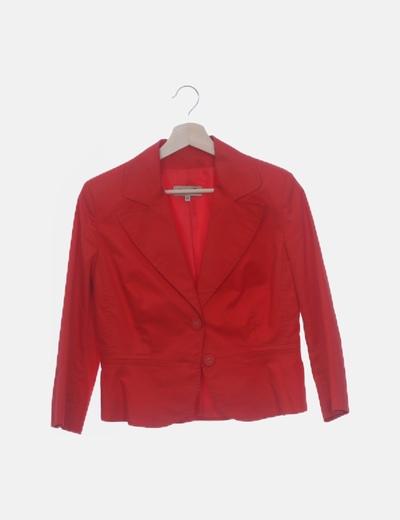 Blazer roja entallada