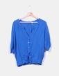 Blusa azul klein fluida Pull&Bear