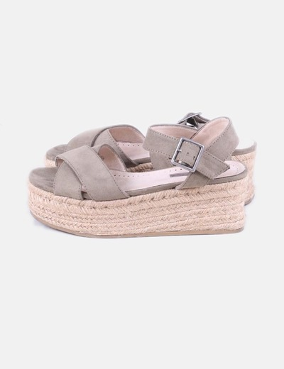 Sandalias plataforma kaki
