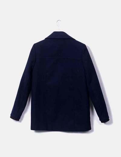 Zara Abrigo tres cuartos azul (descuento 72%) - Micolet