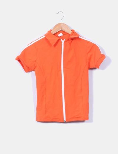 Chaqueta sport naranja manga corta NoName