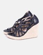 Wedge black strips Pepe Jeans