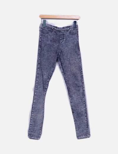 Jeans grises desgastados high waist Shana