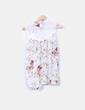 Blusa floral semitransparente abullonada Mismash