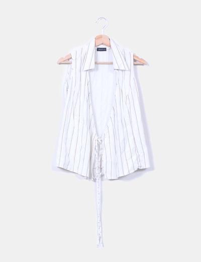 Conjunto de pantalón y blusa de rayas TRAZOS