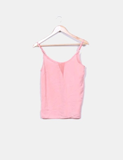 Blusa tirantes color salmon