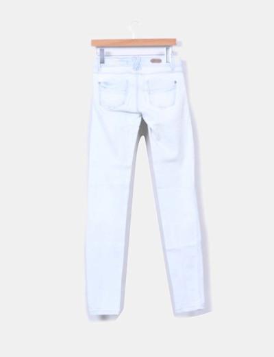 Pantalon denim color claro