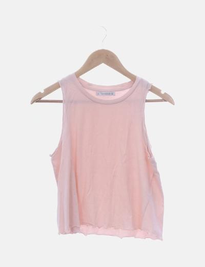 Camiseta rosa de tirantes