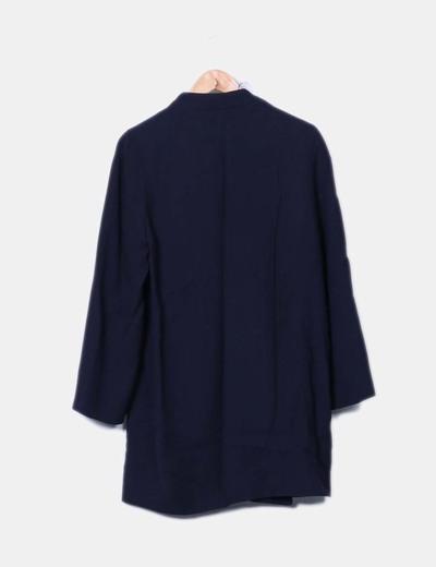 Abrigo largo azul marino