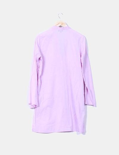 Camisa malva bordada