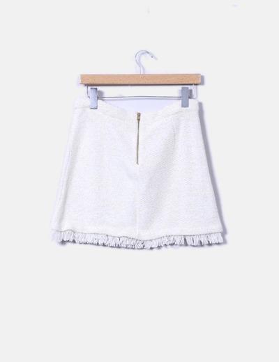 Minifalda texturizada