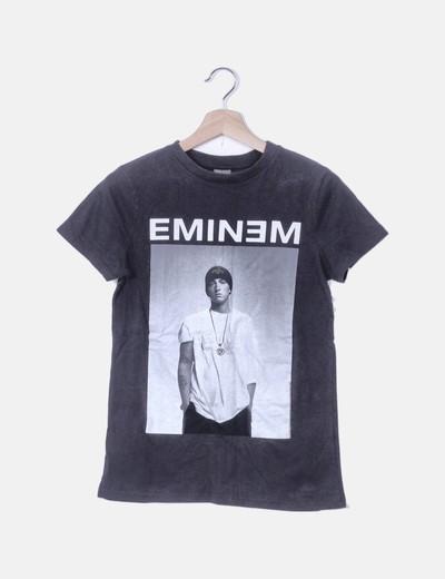Camiseta gris print Eminem