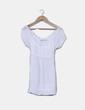 Blusa blanca con cuello barco Zara