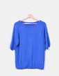 Jersey azul manga francesa Zara