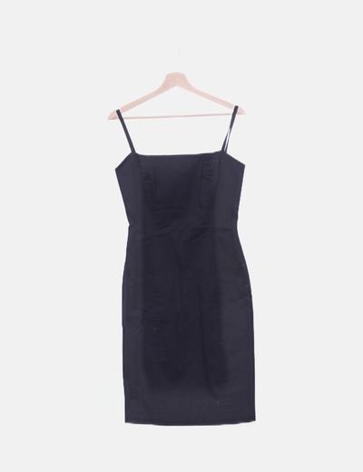 Vestido negro midi