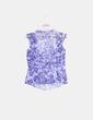 Blusa organdí  floral azul seda Josep Font