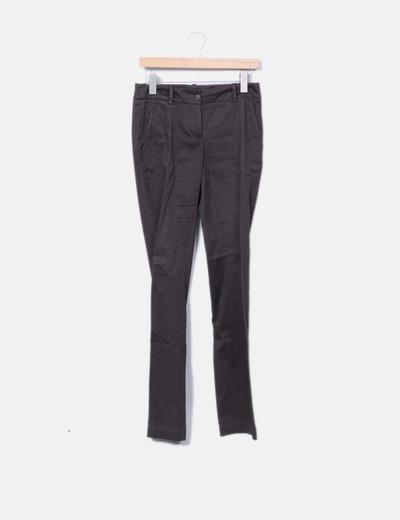 Pantalon marron droit Benetton