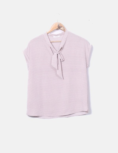 Blusa rosa estampada