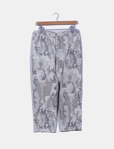 Pantalón camuflaje de lino NoName