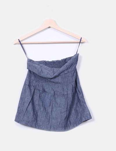 Top bustier en denim Pull&Bear