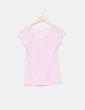 Camiseta rosa print Bershka
