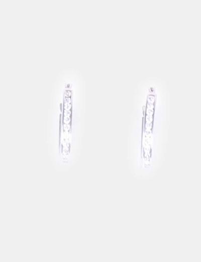 Aretes de plata con brillos NoName