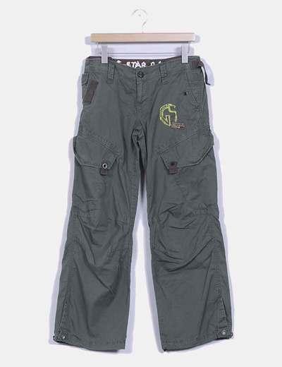 Pantalon caqui baggy detalle bolsillos G-Star Raw