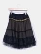Jupe noire texturé avec strass de tulle et en or NoName