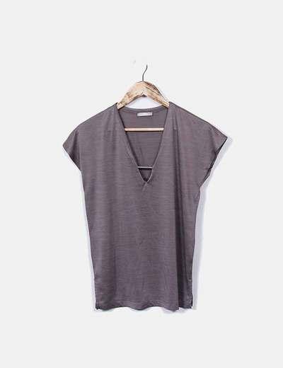 Zara Taupe Glitzer T-Shirt (Rabatt 78 %) - Micolet 639e98ae90