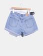 Shorts denim azul claro con dobladillo Cheap Monday