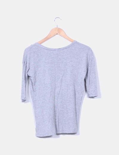 Camiseta gris manga francesa