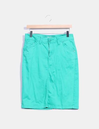 Falda midi verde MAS fashion