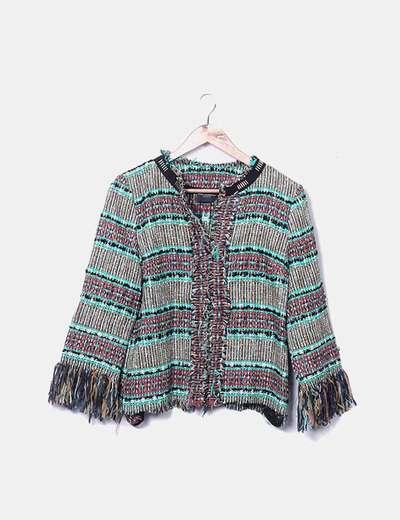 Casaco de tweed multicolorido Atos Lombardini