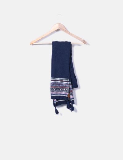 Pepe Jeans Écharpe bleue tricotée avec pompons (réduction 83%) - Micolet 1c2ed8187c1