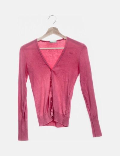 Chaqueta tricot rosa