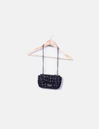 Purificación García Mini borsa nera con perline (sconto 68%) - Micolet 1100a501f1f