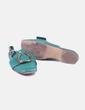 Zapato verde destalonado con hebilla Uterqüe