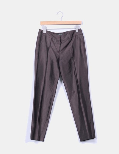 Pantalon marron de pinzas