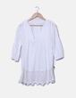 Camisa blanca bajo encaje Promod