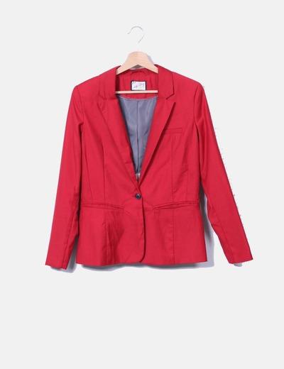 Blazer roja bolsillos