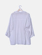 Blusa blanca de rayas oversize Zara