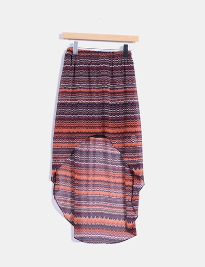 Falda estampada corte asimétrico  Zara