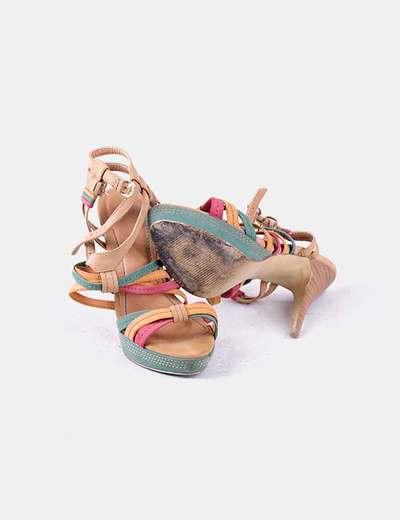 De De Tiras Multicolor Tiras Sandalia Sandalia Multicolor v7yf6bYg