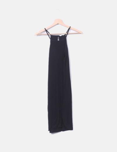 Vestido tirantes negro Zara