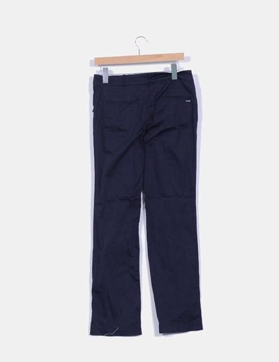 Pantalon chino efecto satinado