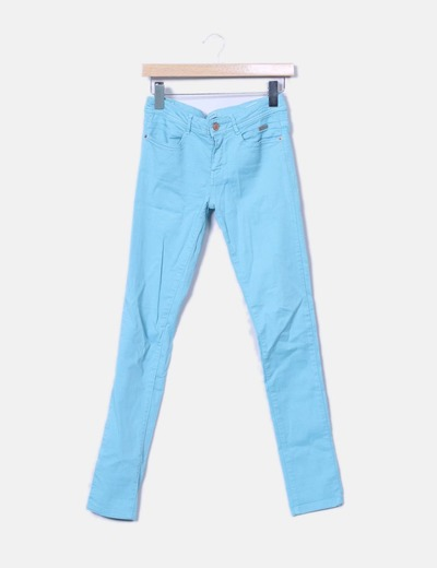 Pantalón denim azul pitillo Denim Co.