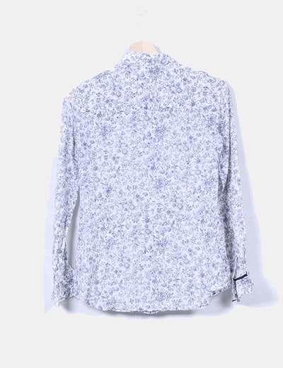 Camisa de seda print floral