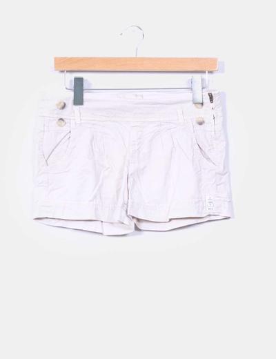 Short beige Bershka