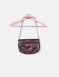 Mini bolso marrón texturizado Massimo Dutti