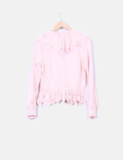 Camisa rosa gypsy bordados